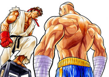 Ryu 1ups Sagat 2 by bananakun