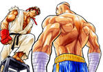 Ryu 1ups Sagat 2