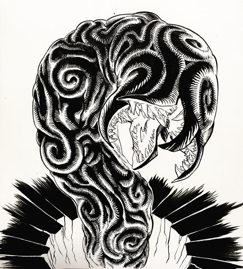Cthulhu worm guy by bananakun