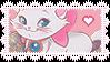 Disney Aristocats Marie Stamp by BelievingIsSeeing