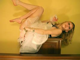 White dress stock by EK-StockPhotos