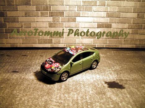 Stickerbombed Prius