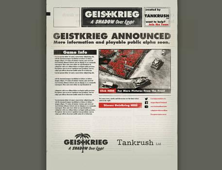 Geistkrieg Site Design