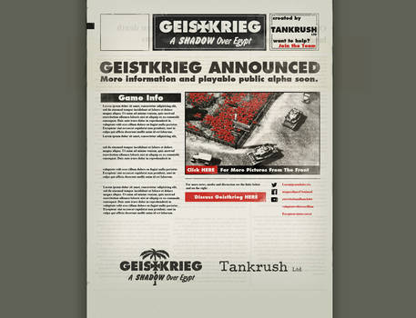Geistkrieg Site Design
