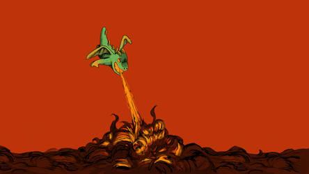 Inferno Babydragon - Wallpaper