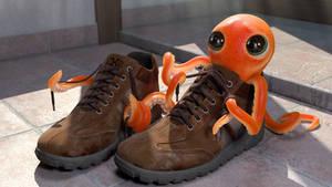 Octopus in a shoe