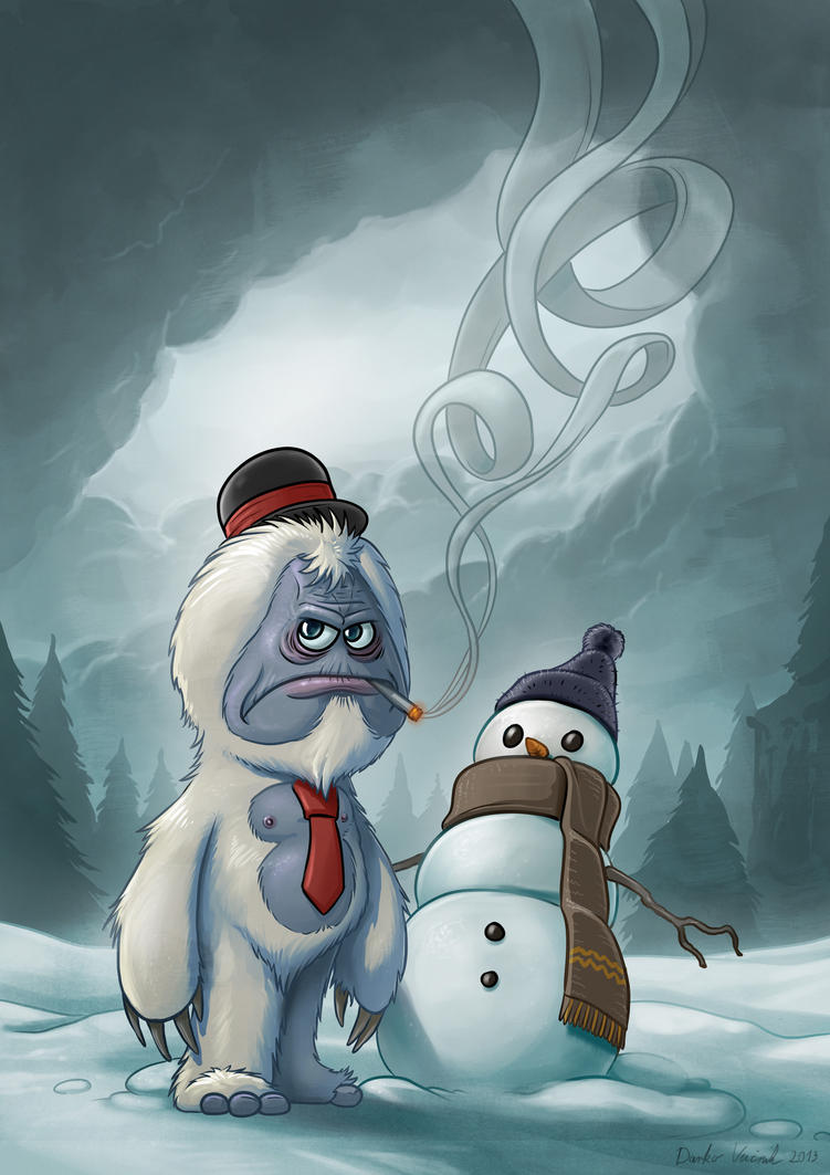 Grumpy Yeti by Darkodev
