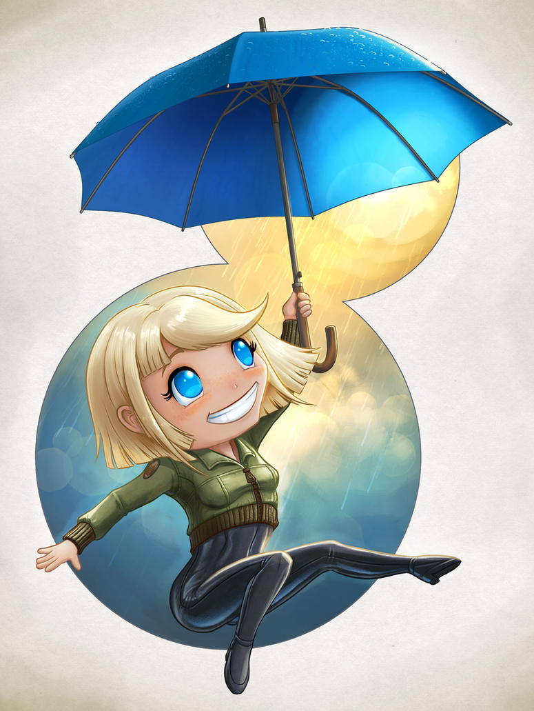 Enjoy The Rain Chibi by Darkodev
