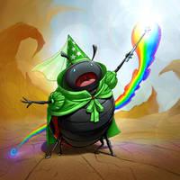 Magical Lady Bug Rainbow Fairy Princess by Darkodev