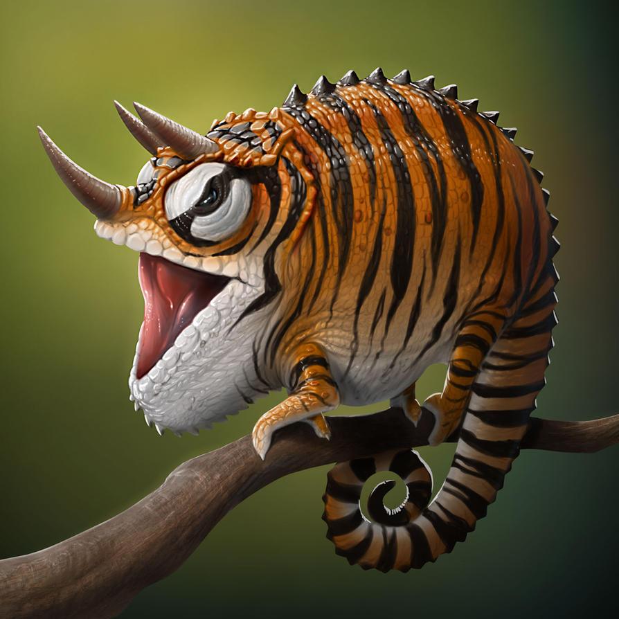 Tiger Chameleon by Darkodev on DeviantArt