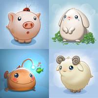 Cute Animals by Darkodev