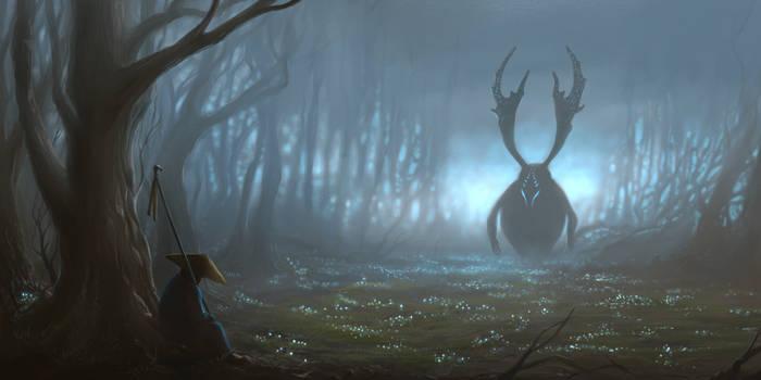 Foggy Forest by Darkodev