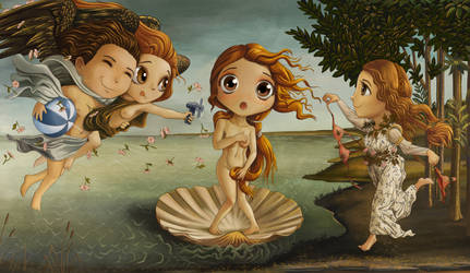 The Birth Of Venus Chibified Web by Darkodev