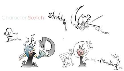 Character Sketch: Slime Evol. by mydarksides