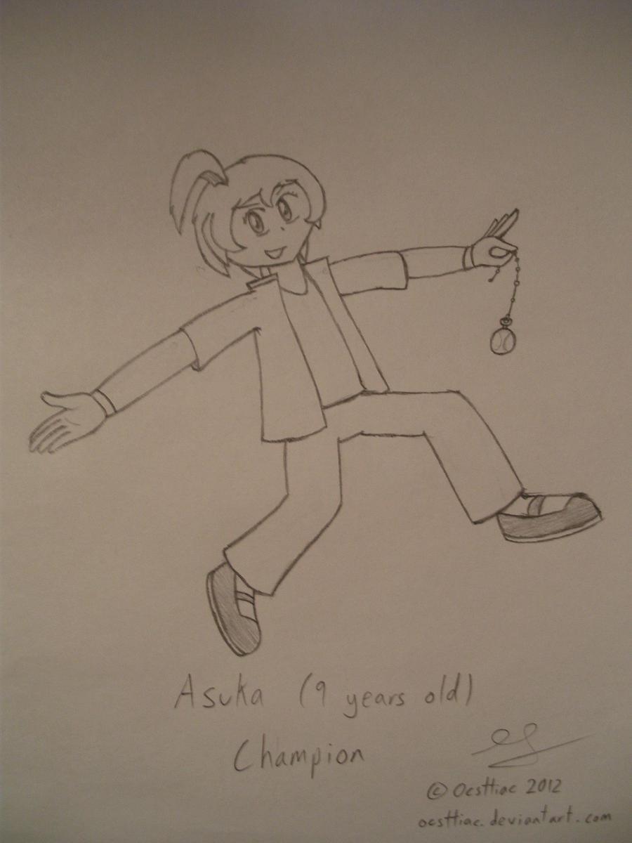 Champion - 10 Years Ago: Asuka by Ocsttiac