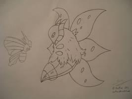 Venomoth vs. Volcarona by Ocsttiac