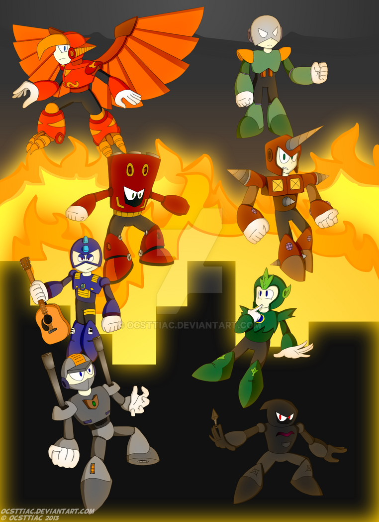 Group 10 Robot Masters [DON-073 - DON-80] ~ Poster by Ocsttiac