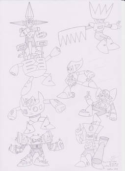 Group 4 Robot Master Poster drawing