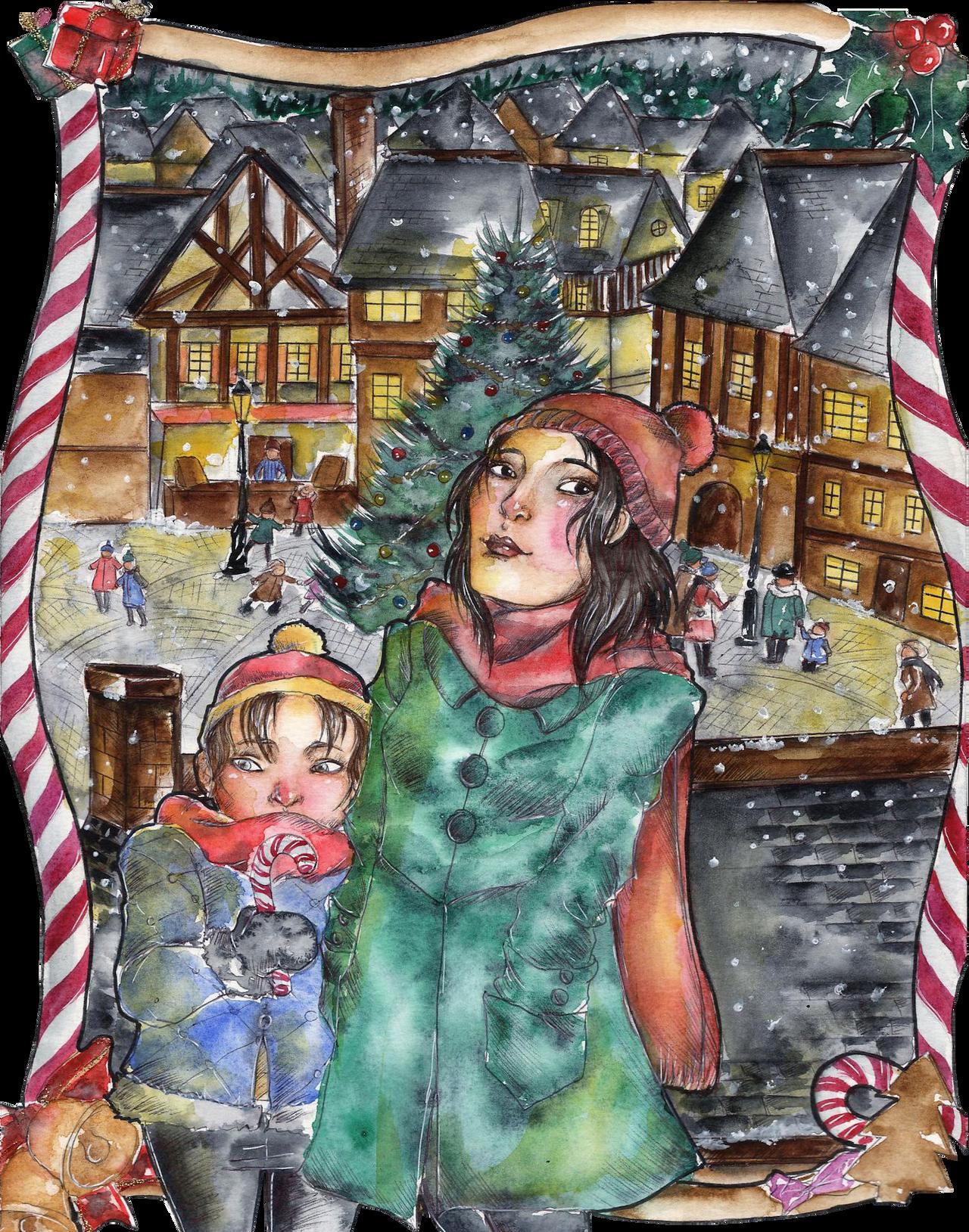 Winter Challenge : Winter Village by caterpillar96