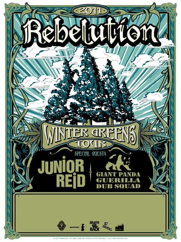 Rebelution Winter Greens Tour By Fensterer On Deviantart