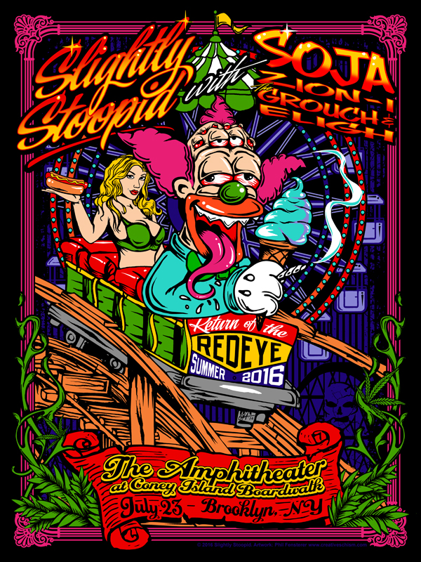 Slightly Stoopid Return of the Redeye 2016 by fensterer