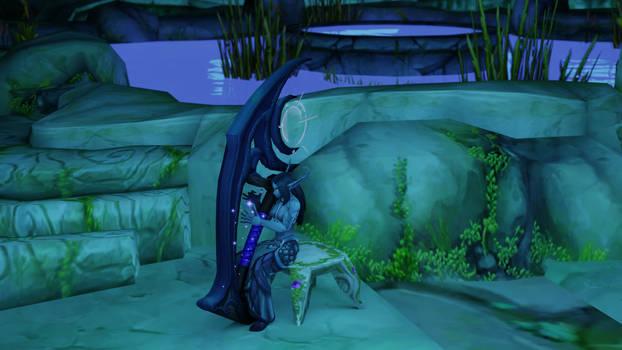 Val'thira playing the harp