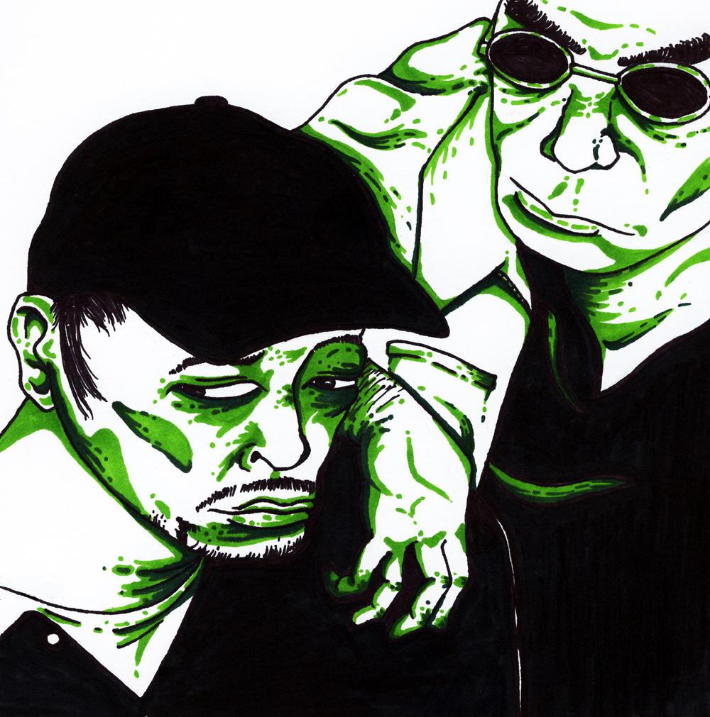 DJ Krush and Toshinori Kondo by r-tang