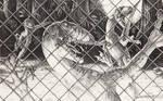 Jurassic Park - Raptors Behind a Fence