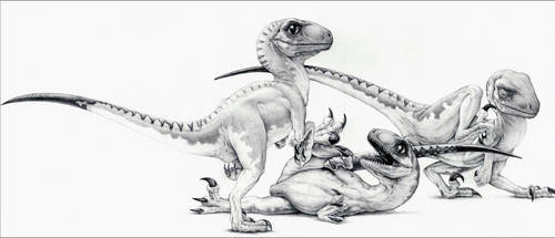 The Three Little Raptors - Jurassic Park by IHeartJurassicPark