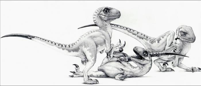 The Three Little Raptors - Jurassic Park