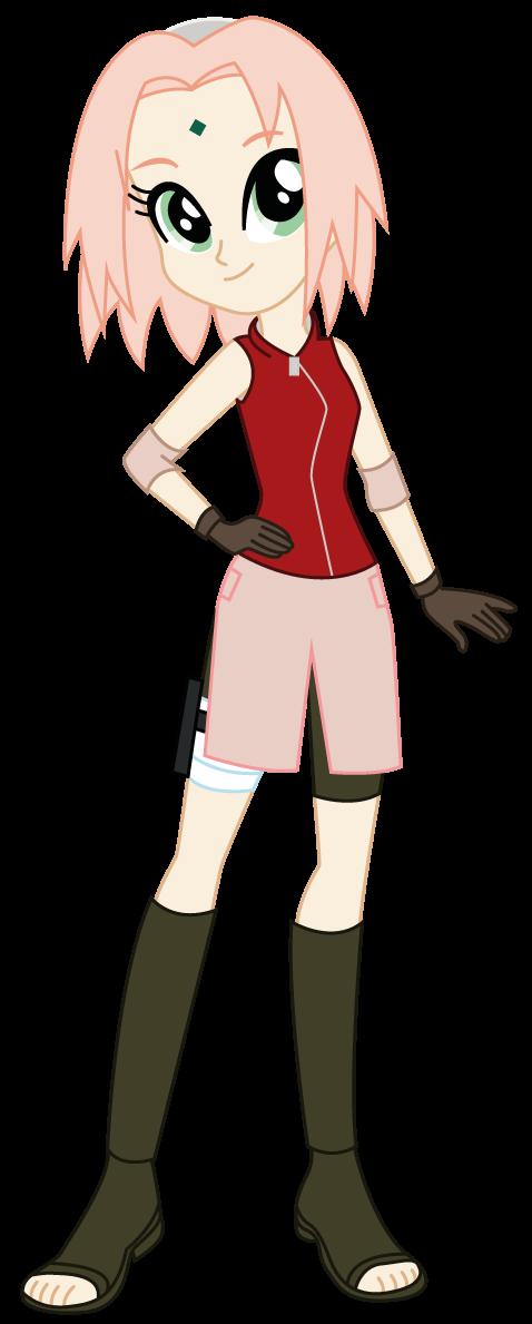 Equestria Girls x Naruto Shippuden: Sakura Haruno by Lhenao