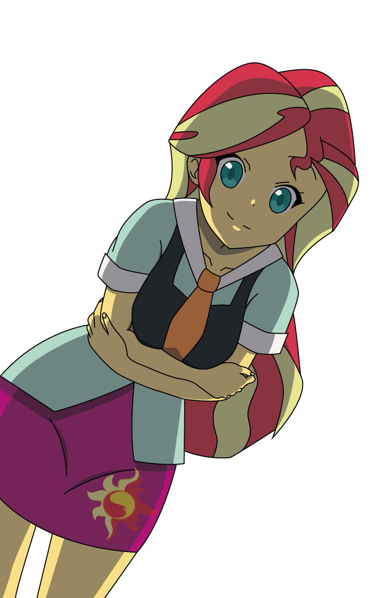 Sunset Shimmer Anime Style by Lhenao