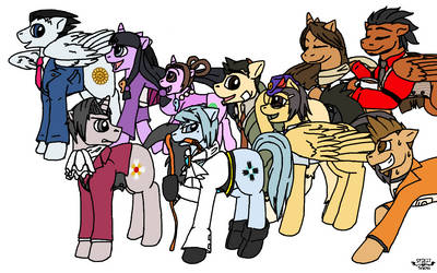 Ace Attorney: Ponified by Spirit-Of-Snow