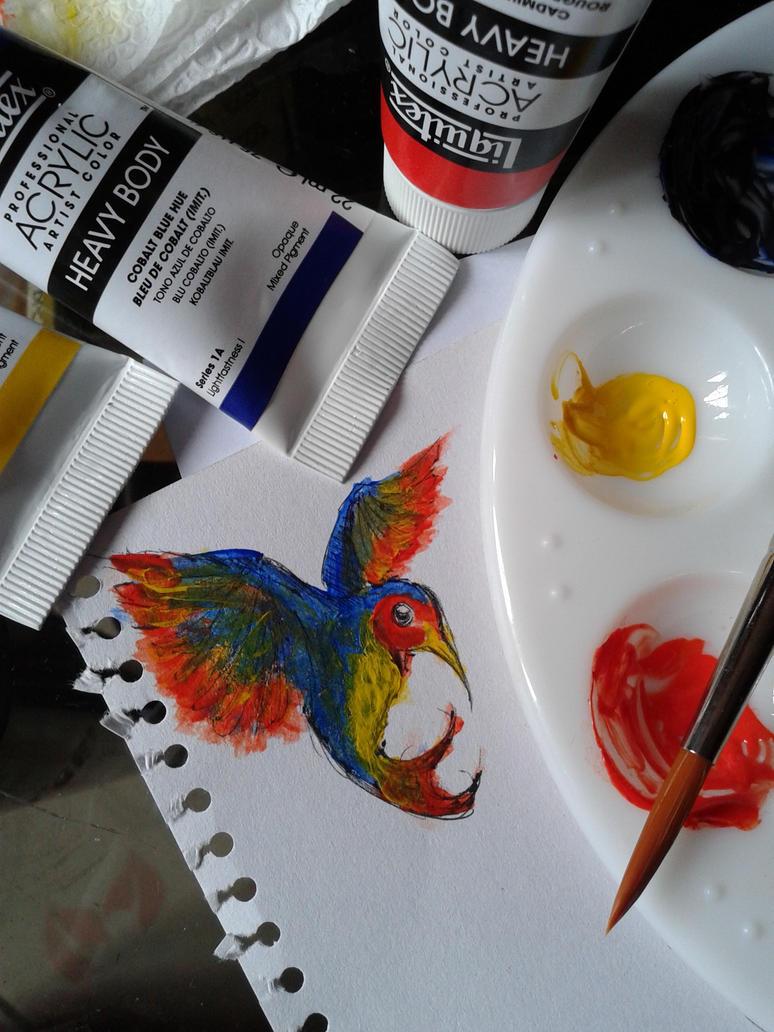 Hummingbird by lonelypapaya