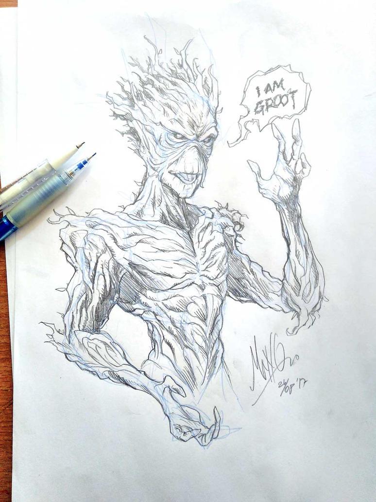 fan art - I am Groot by manowolvie