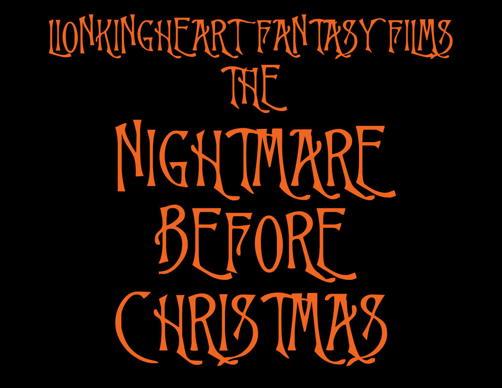 Nightmare Before Christmas Logo | Christmas Decorating