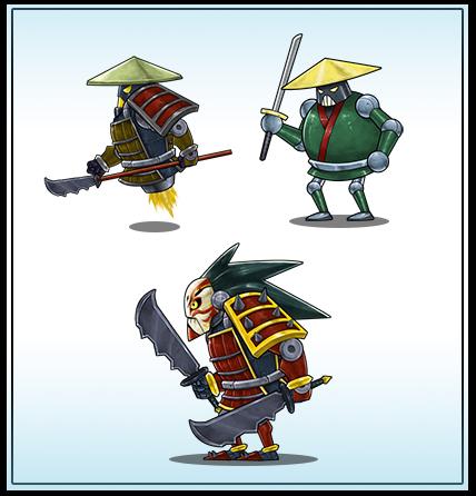 Evil Samurai Robots by cjcenteno