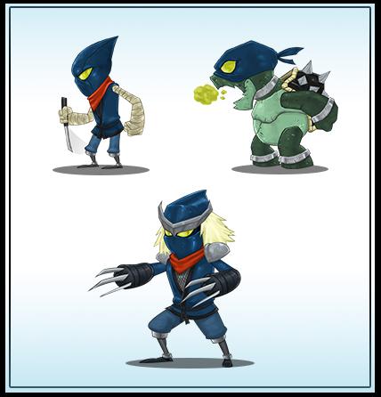 Evil Ninja Enemies by cjcenteno