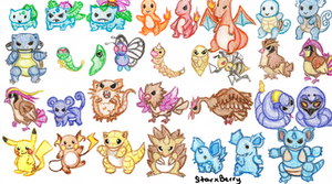 1st Gen Pokemon: Part 1 by StarxBerry