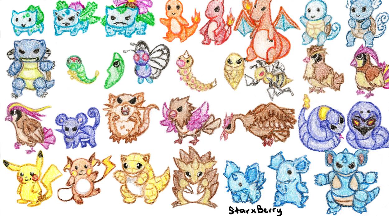 1st Gen Pokemon Part 1 By Starxberry On Deviantart