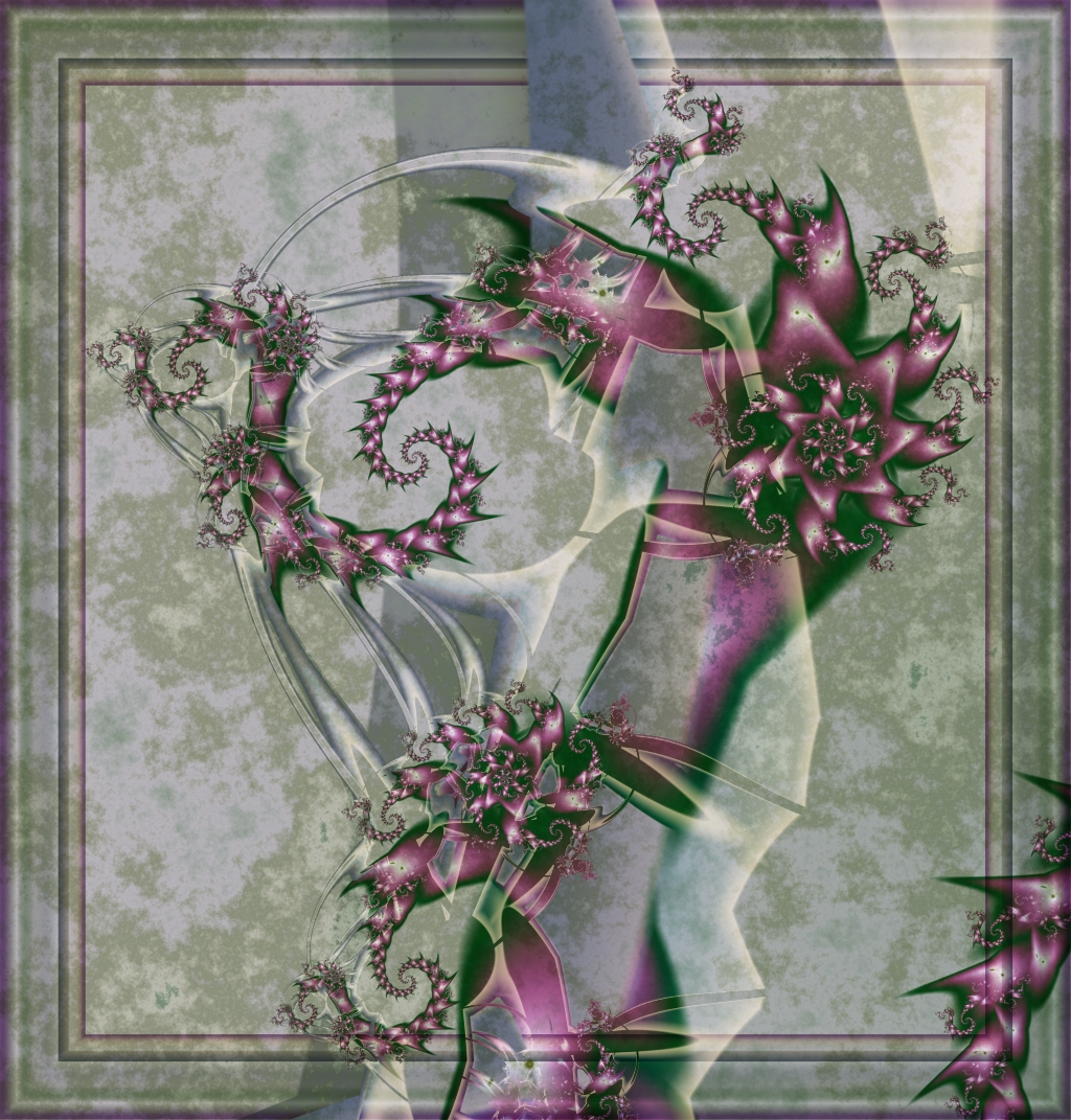 Purple Stone Fractal by Kattvinge