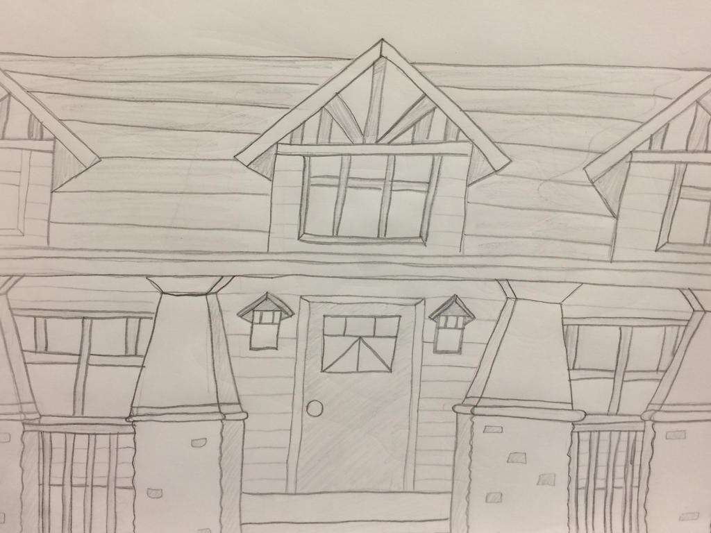 Craftsman House Sketch by HJ-sinij