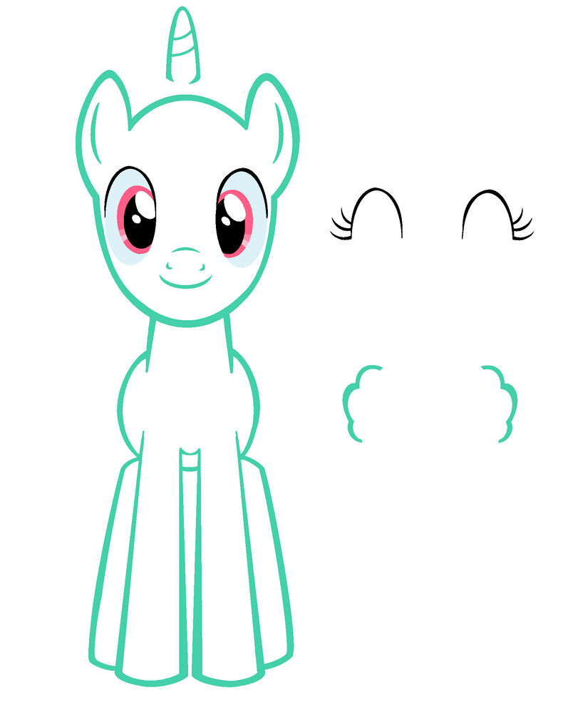 How To Draw A Pony Mlp Front View