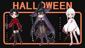 [2/3 OPEN] Halloween Adopts Auction by eikyrona