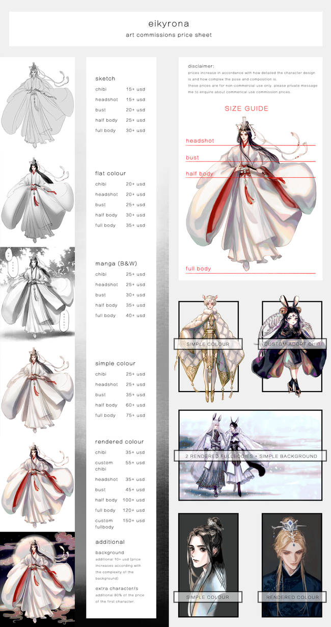 [CLOSED] Commission Price Sheet