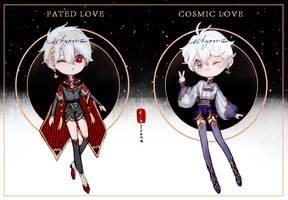 [1/2 OPEN] Valentine's Day Chibi Adopts Auction by eikyrona