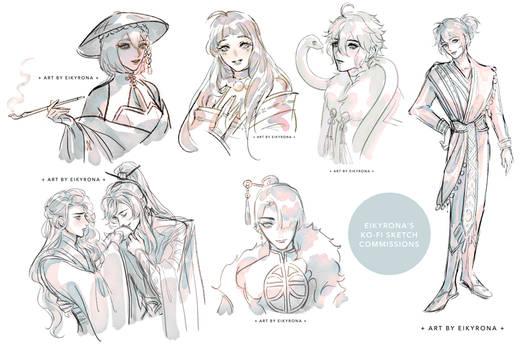 [CM] Kofi Sketch Commissions: Batch 1
