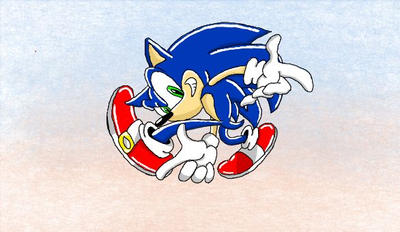 Sonic ('Sonic Adventure' Box Art) DIGITAL by LizNic