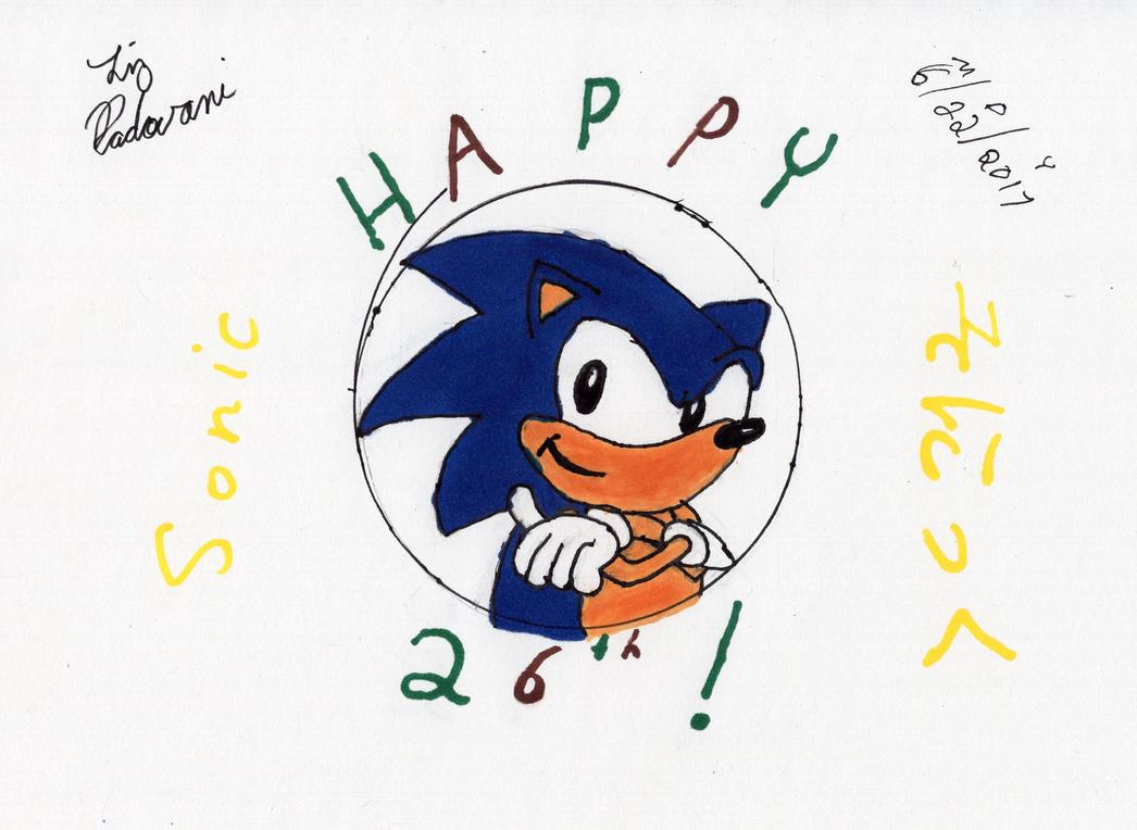 Happy 26th Anniversary, Sonic! by LizNic