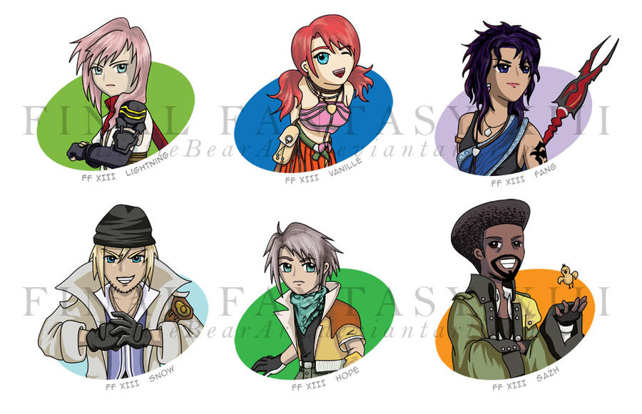 Final Fantasy Xiii Characters Final Fantasy XIII cha...